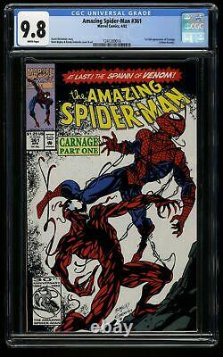 Amazing Spider-Man #361 CGC NM/M 9.8 White Pages 1st Carnage