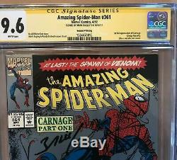 Amazing Spider-Man 361 Signed SS CGC 9.6 White Pages 1st Carnage Second Printing