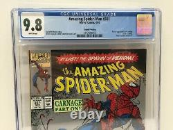 Amazing Spider-Man #361 (Silver 2nd Print) CGC 9.8 WHITE PAGES 1st App Carnage