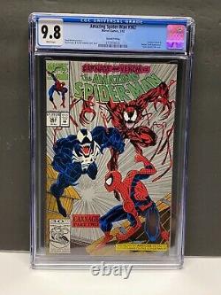 Amazing Spider-Man #362 CGC 9.8 White Pages (1992) 2nd Silver Carnage Venom