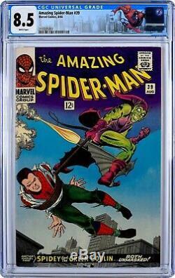 Amazing Spider-Man #39 (1966) CGC 8.5, WHITE PAGES! 1st JOHN ROMITA SPIDER-MAN