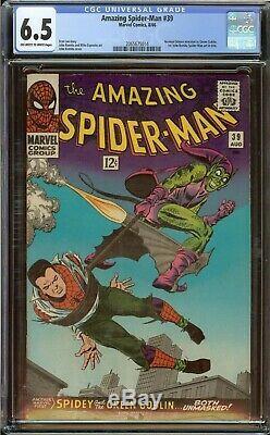 Amazing Spider-Man #39 CGC 6.5 (OWithWhite) 1st John Romita Spider-Man Art 1966
