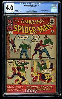 Amazing Spider-Man #4 CGC VG 4.0 Cream To Off White 1st Sandman