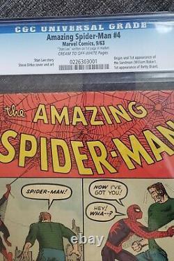 Amazing Spider-Man #4 CGC VG+ 4.5 Cream To Off White 1st Sandman