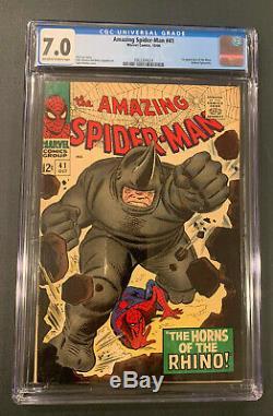 Amazing Spider-Man #41 CGC 7.0 Off-White to White 1st Rhino