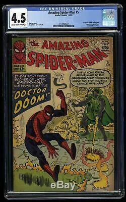 Amazing Spider-Man #5 CGC VG+ 4.5 Cream To Off White Doctor Doom
