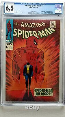 Amazing Spider-Man #50 CGC 6.5 Fine+ White Pages 1st Appearance Kingpin