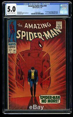 Amazing Spider-Man #50 CGC VG/FN 5.0 Off White to White 1st Kingpin