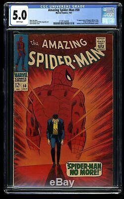 Amazing Spider-Man #50 CGC VG/FN 5.0 White Pages 1st Kingpin