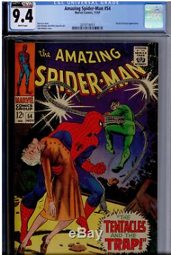 Amazing Spider-Man #54 CGC 9.4 WHITE pages, CVA exceptional, Doctor Octopus