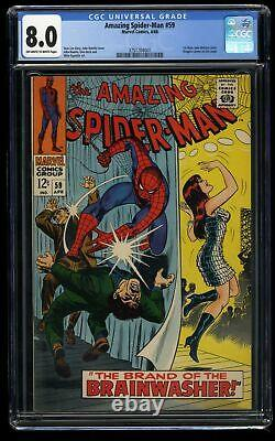 Amazing Spider-Man #59 CGC VF 8.0 Off White to White 1st Mary Jane Watson Cover