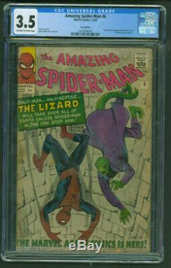 Amazing Spider-Man 6 CGC 3.5 OWithWhite UK Variant 1st Appearance of the Lizard