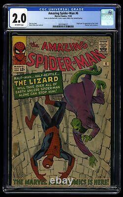 Amazing Spider-Man #6 CGC GD 2.0 Off White 1st Lizard