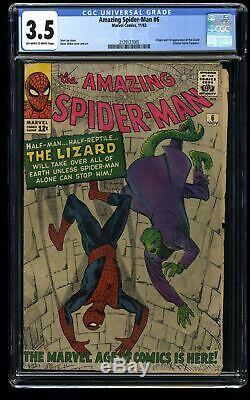 Amazing Spider-Man #6 CGC VG- 3.5 Off White to White 1st Lizard