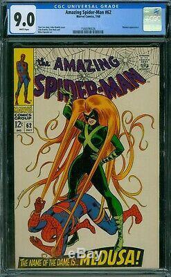 Amazing Spider-Man 62 CGC 9.0 White Pages Cracked CGC Case