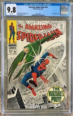 Amazing Spider-Man #64 (1968) CGC 9.8 - White pages Stan Lee & John Romita