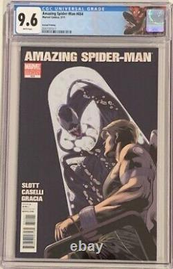 Amazing Spider-Man 654 2nd Printing Variant 2011 CGC 9.6 WHITE 1st Agent Venom