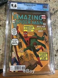 Amazing Spider-Man #700 CGC 9.6 Ditko variant cover (white pages)