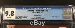 Amazing Spider-Man #700 CGC 9.8 WHITE Pgs (2013) Steve Ditko 1100 Variant Cover