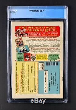 Amazing Spider-Man #77 CGC 9.4 NM Marvel 1969 Human Torch app, White pgs