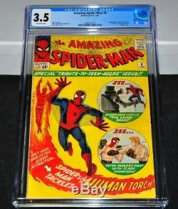 Amazing Spider-Man 8 CGC 3.5 Off-White Pages 1964