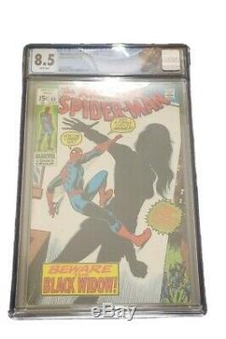 Amazing Spider-Man #86 CGC 8.5 White Pages Origin Of Black Widow Marvel Movie