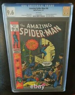 Amazing Spider-Man 96 CGC 9.6 White Pages NON CODE APPROVED Old CGC Case Marvel