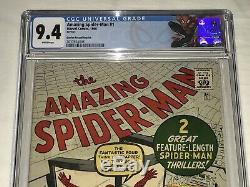 Amazing Spider-Man ASM 1 Golden Record Reprint GRR CGC 9.4 NM with White Pages