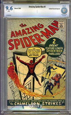 Amazing Spider-Man Golden Record Reprint #1 CBCS 9.6 NM+ White Pages Universal
