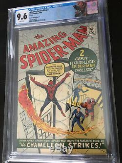 Amazing Spider-man 1 CGC 9.6 White Pgs. 1966 Golden Record Reprint 1st Chameleon