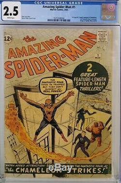 Amazing Spider-man #1 Cgc 2.5 White Pages