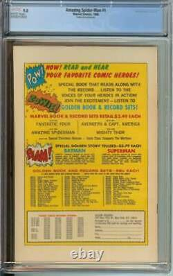 Amazing Spider-man #1 Cgc 9.0 White Pages // Golden Record Reprint 1966