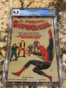 Amazing Spider-man #10 Cgc 4.5 Rare White Pages 1st Big Man & Enforcers Mcu Key