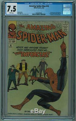 Amazing Spider-man #10 Cgc 7.5 Ditko Art Higher Grade White Pgs 1964