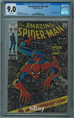 Amazing Spider-man #100 Cgc 9.0 Classic Romita Cover High Grade White Pgs 1971
