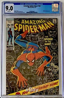 Amazing Spider-man #100 Cgc 9.0 Perfect Wrap & White Pages