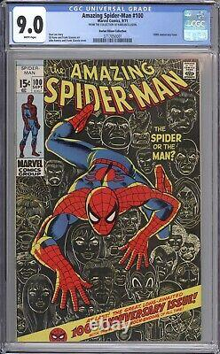 Amazing Spider-man #100 Cgc 9.0 White Pages / Harlan Ellison Collection