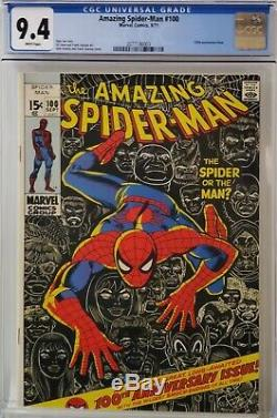 Amazing Spider-man #100 Cgc 9.4 White Pages