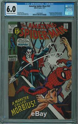 Amazing Spider-man #101 Cgc 6.0 1st Morbius Off-white Pages 1971