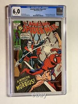 Amazing Spider-man 101 Cgc 6.0 White Pages Marvel Bronze Age 1st Morbius