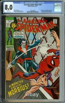 Amazing Spider-man #101 Cgc 8.0 White Pages // 1st Appearance Of Morbius