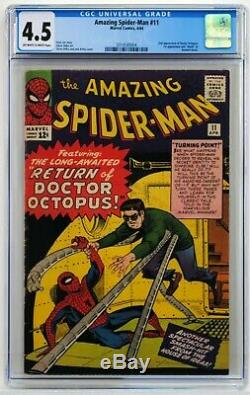 Amazing Spider man #11 CGC 4.5 OWithWhite Pages! 2nd Appearance of Doctor Octopus