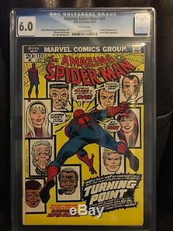 Amazing Spider-man #121 Cgc 6.0 Death Of Gwen Stacy White Pgs 1973 Lowest Price