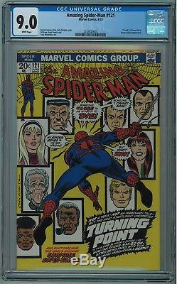 Amazing Spider-man #121 Cgc 9.0 Death Of Gwen Stacy High Grade White Pgs 1973