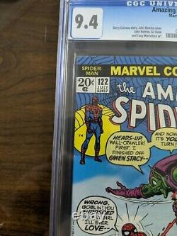 Amazing Spider-man 122 Cgc 9.4 White Pages Death Of Green Goblin