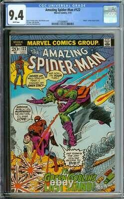 Amazing Spider-man #122 Cgc 9.4 White Pages // Death Of Green Goblin 1973