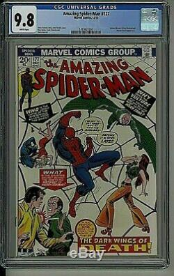 Amazing Spider-man #127 1973 Marvel Comics Cgc 9.8 White Pages Highest Graded