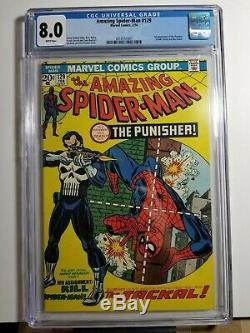 Amazing Spider-man 129 CGC 8.0 White pages! 1st Punisher