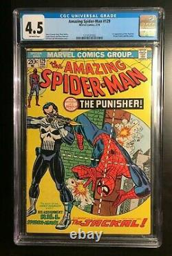 Amazing Spider-man #129 Cgc 4.5 1st Appearance Punisher Off-white Marvel Nice