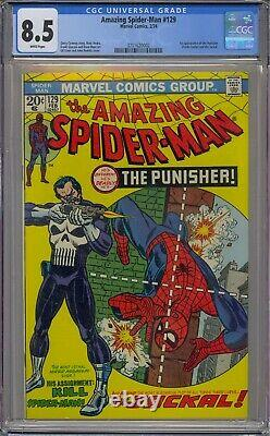 Amazing Spider-man #129 Cgc 8.5 1st Punisher Jackal White Pages